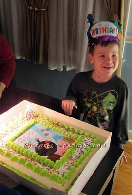Angry Bird Birthday Boy with Cake