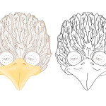 Printable Bird Mask