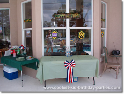 Christine's Army Theme Party Tale