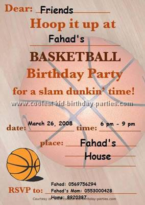 Coolest Basketball Party Ideas and Photos