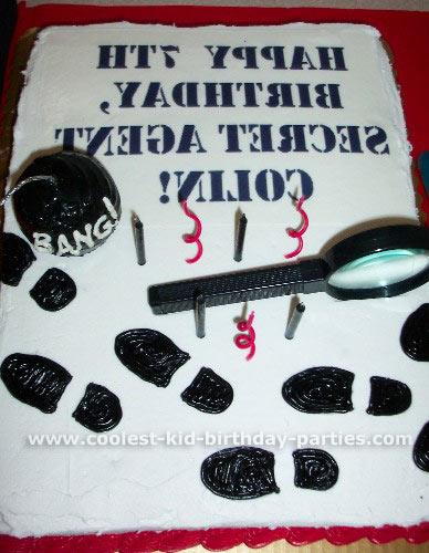 Tabitha's Secret Agent Party Tale Birthday Idea