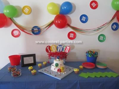 Coolest M&M Candy 2nd Birthday Party