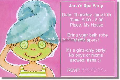 Spa Girl Birthday Party