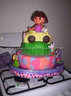 Astonishing Coolest Dora Birthday Party Ideas And Photos Birthday Cards Printable Nowaargucafe Filternl