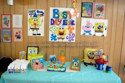 Fantastic Elijahs Jumpin 7Th Spongebob Birthday Party Funny Birthday Cards Online Fluifree Goldxyz