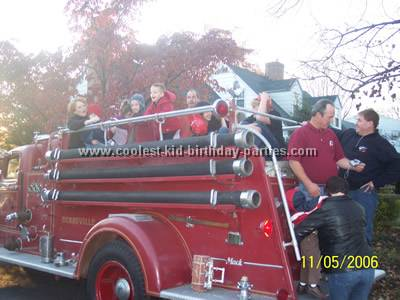 Sandra's Firefighter Birthday Party Tale