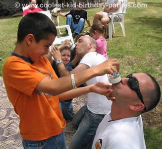 Kids feeding the grownups...