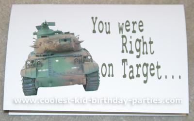 Debbie's Army Kids Party Ideas