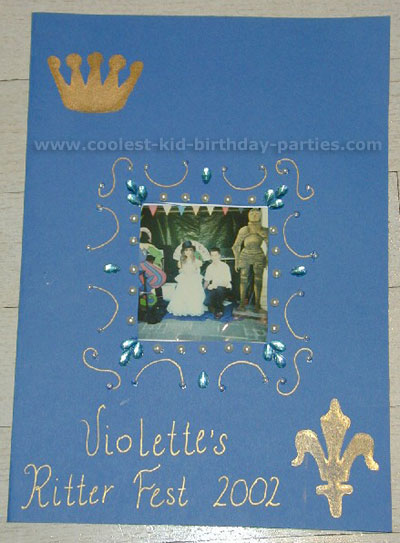 Melissa's Medieval Knight Party Tale