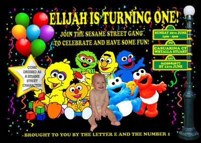 Coolest Sesame Street First Birthday Party Ideas