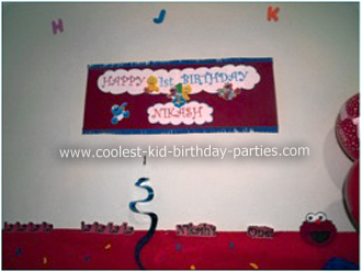 Nikash Sesame Street Party Banner
