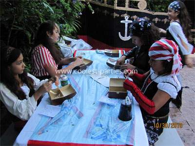 Pirate Birthday Party Craft Making