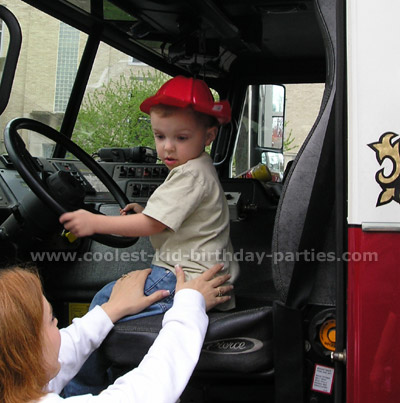 Teresa's Fire Fighter Birthday Party Tale